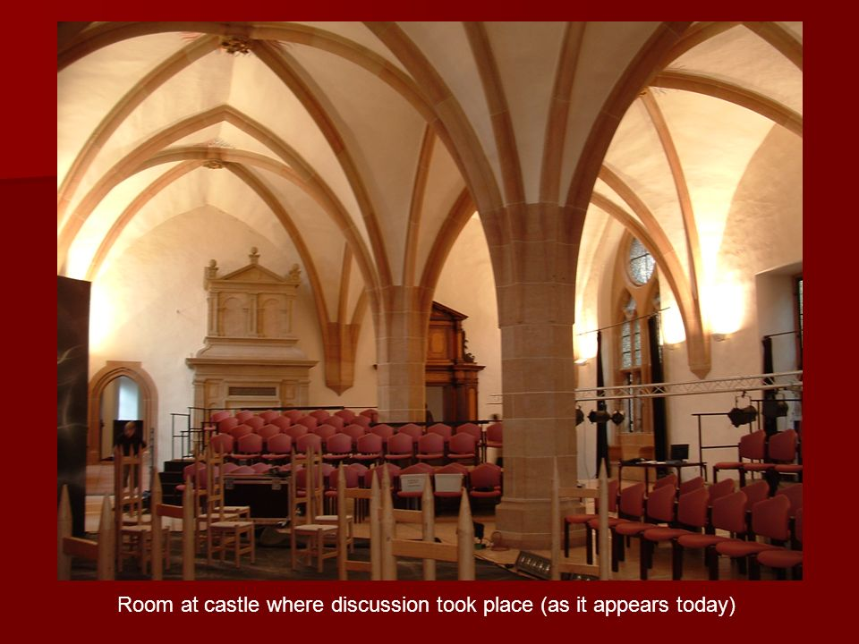Room at castle where discussion took place (as it appears today)