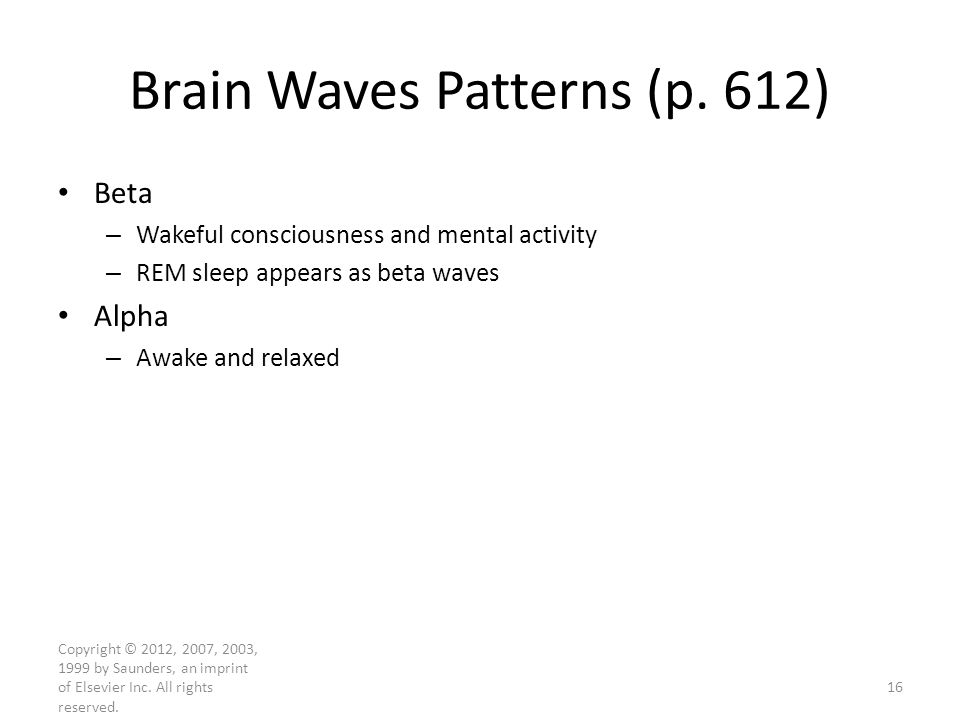 Brain Waves Patterns (p. 612)