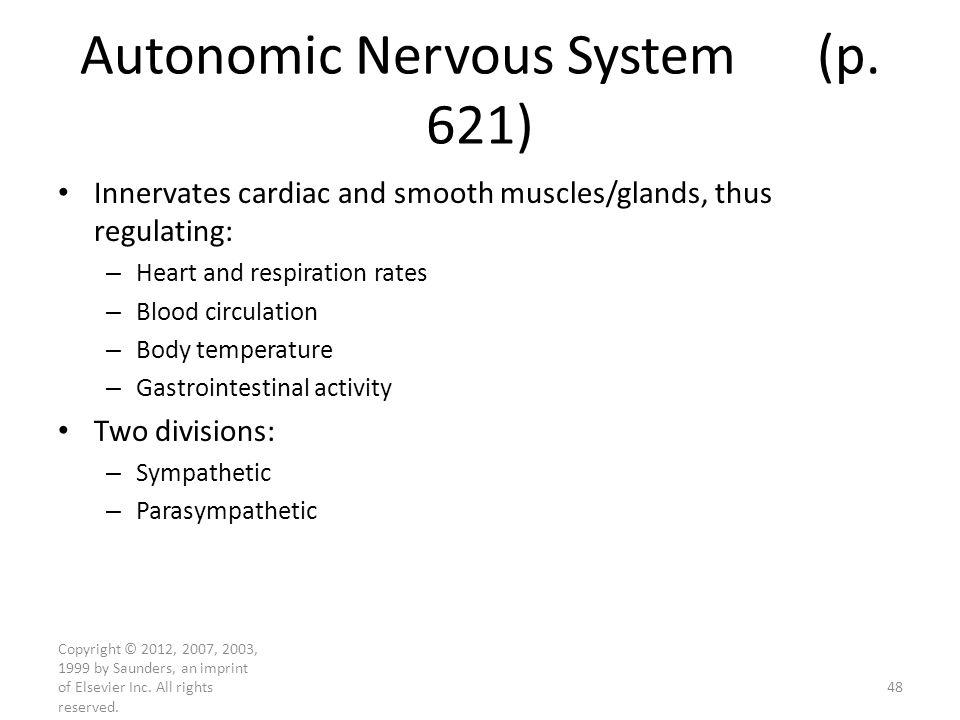Autonomic Nervous System (p. 621)