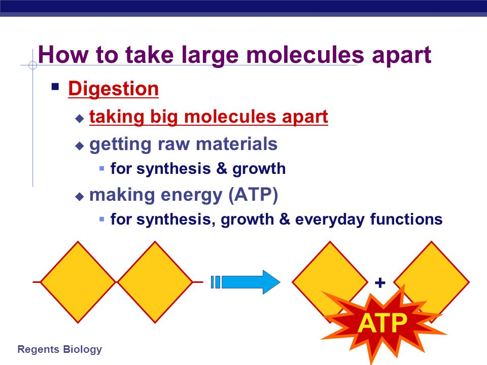How to take large molecules apart