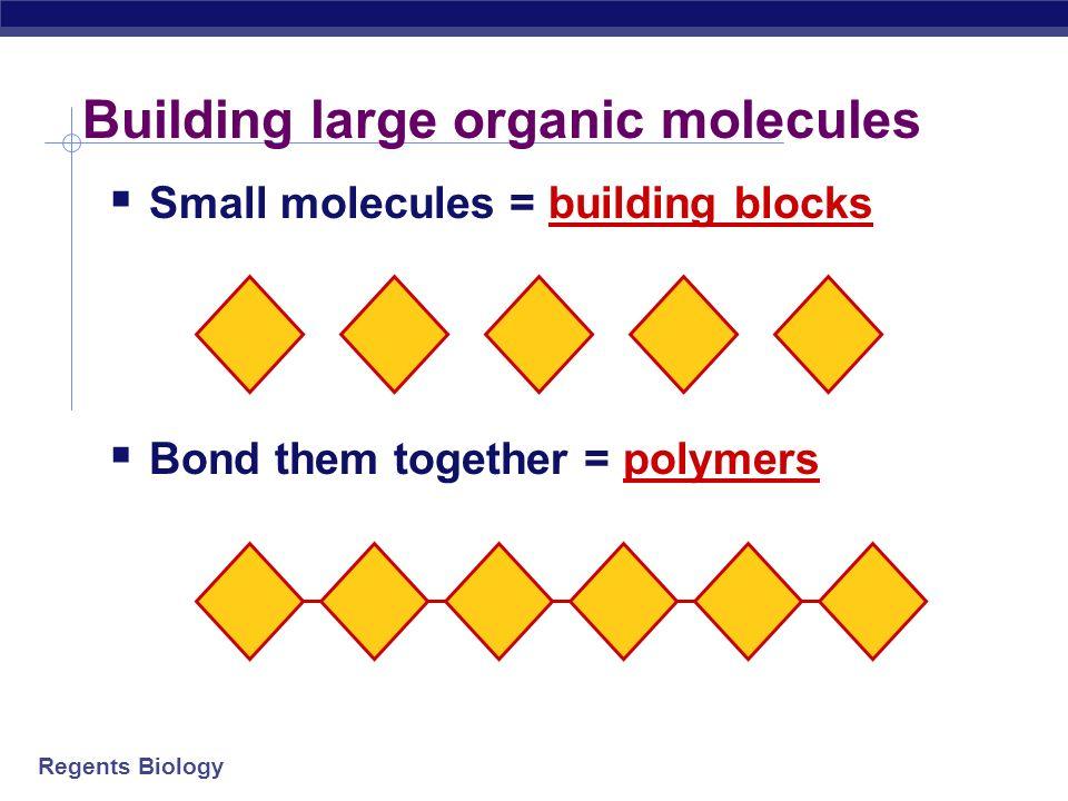Building large organic molecules