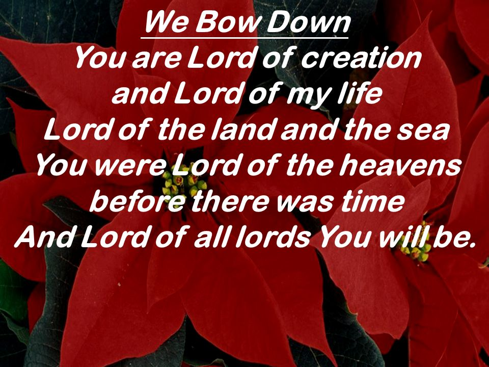 You are Lord of creation and Lord of my life