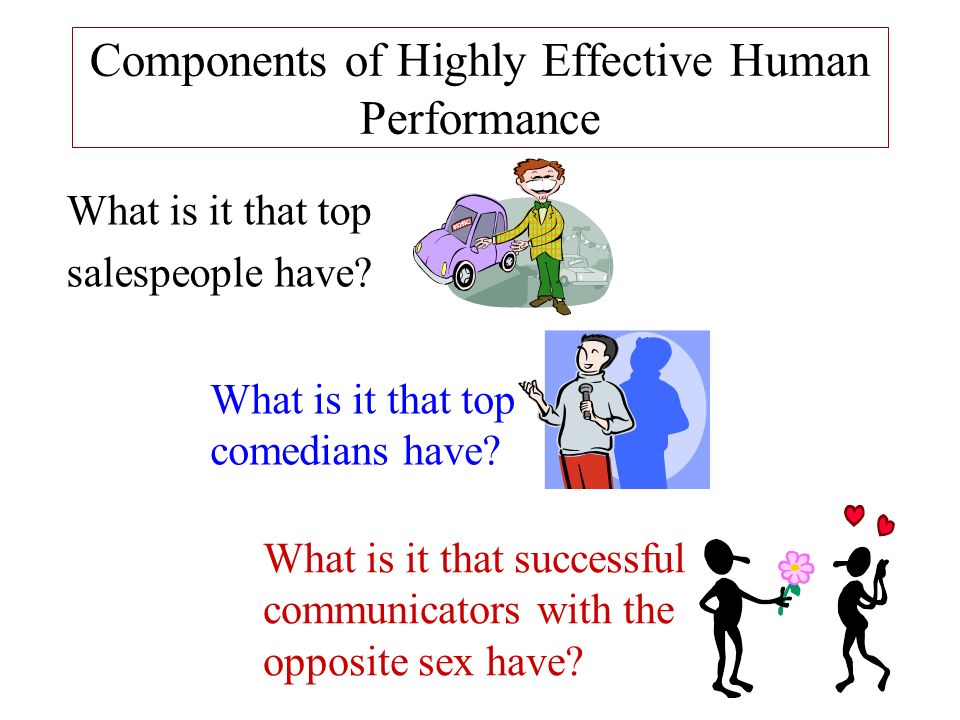 Components of Highly Effective Human Performance