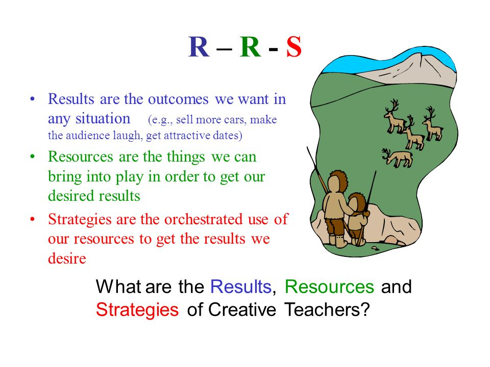 R – R - S What are the Results, Resources and