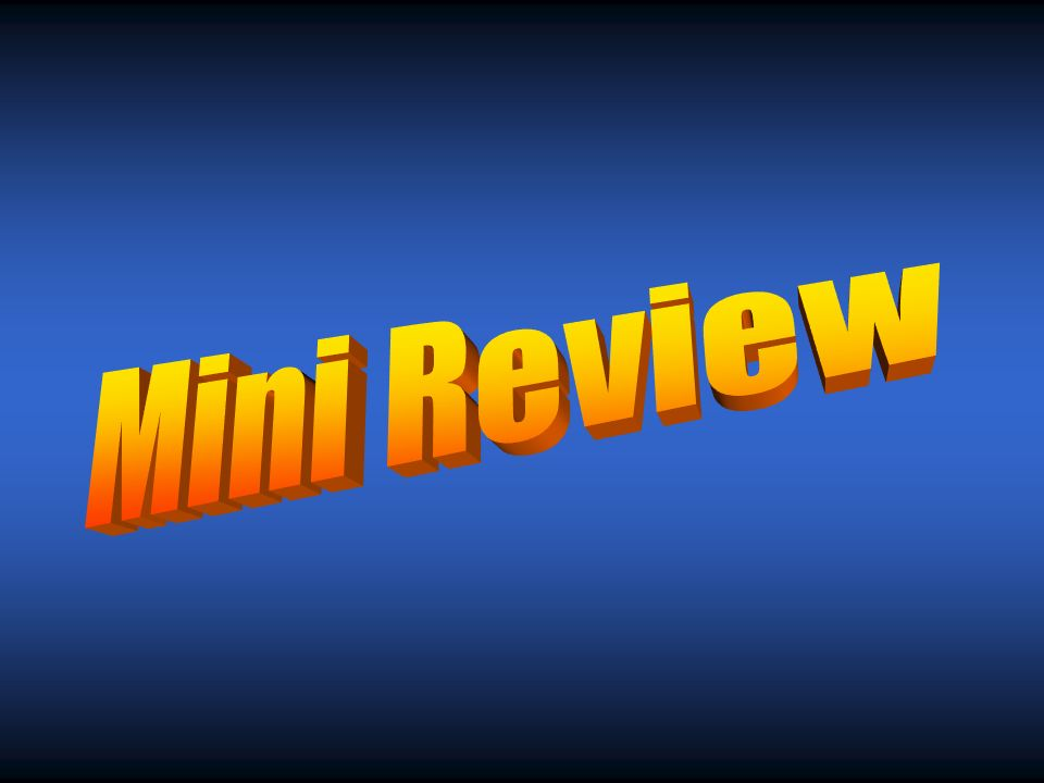 Mini Review