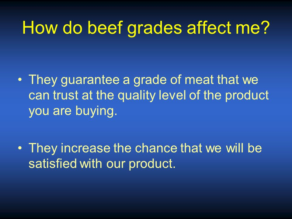 How do beef grades affect me