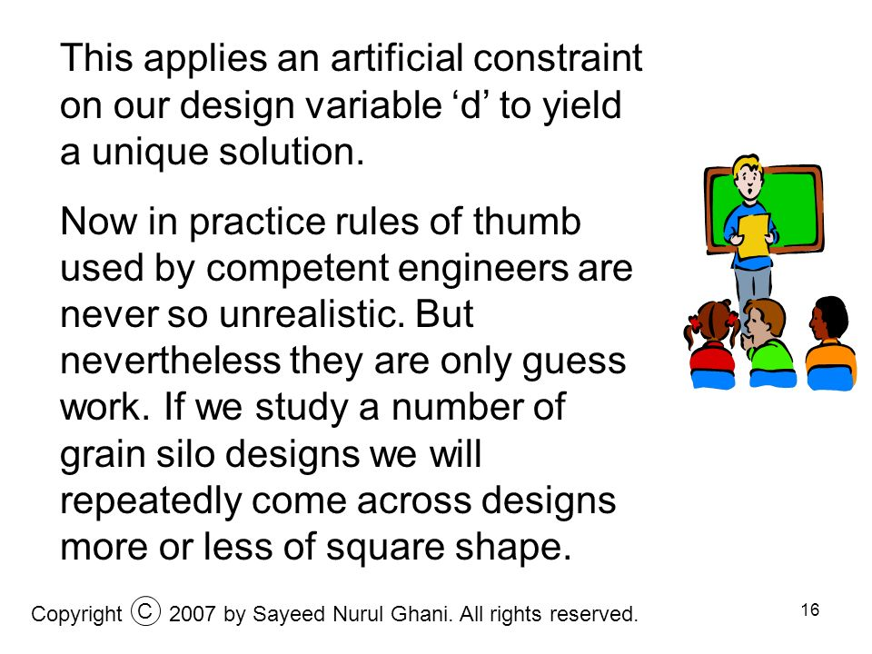This applies an artificial constraint on our design variable 'd' to yield a unique solution.