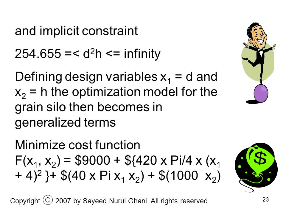 and implicit constraint 254.655 =< d2h <= infinity