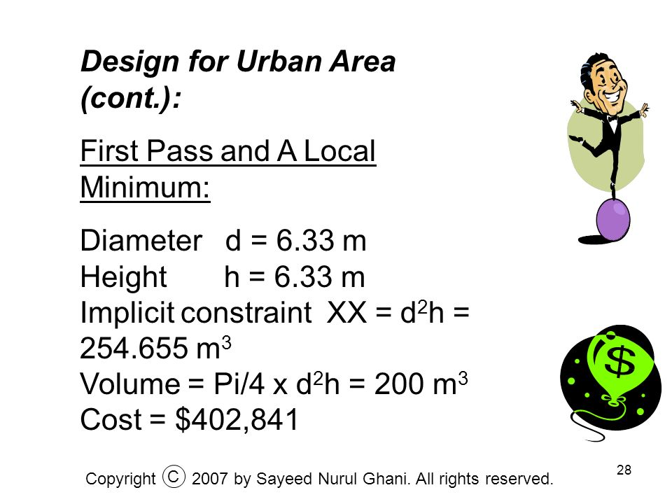 Design for Urban Area (cont.): First Pass and A Local Minimum: