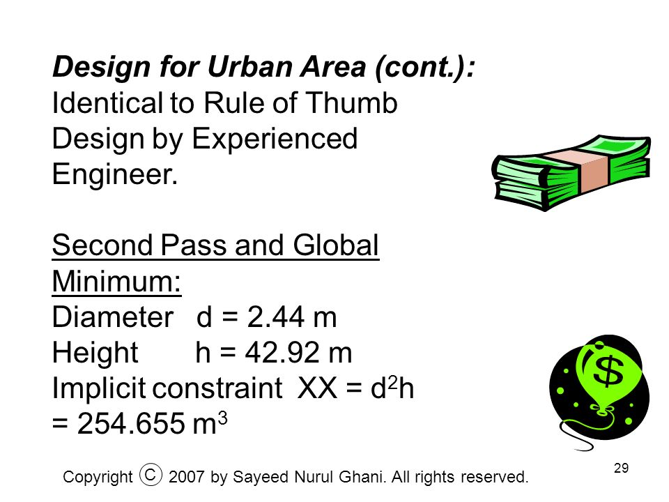Design for Urban Area (cont.):