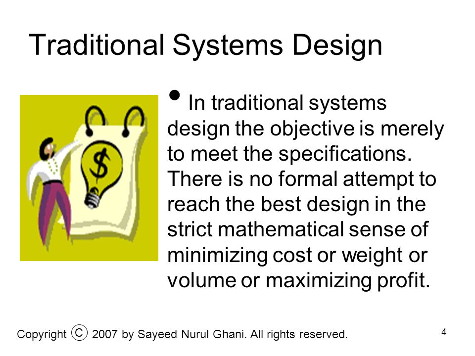 Traditional Systems Design