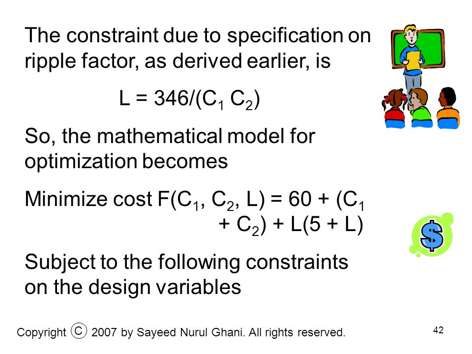 So, the mathematical model for optimization becomes