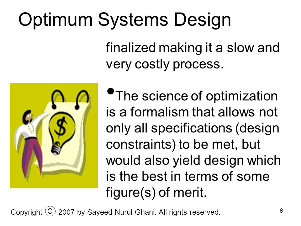 Optimum Systems Design