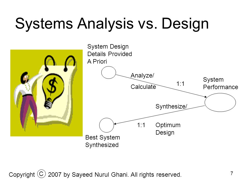 Systems Analysis vs. Design