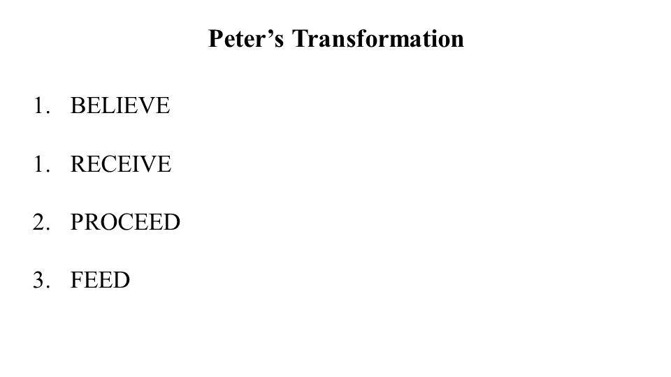 Peter's Transformation