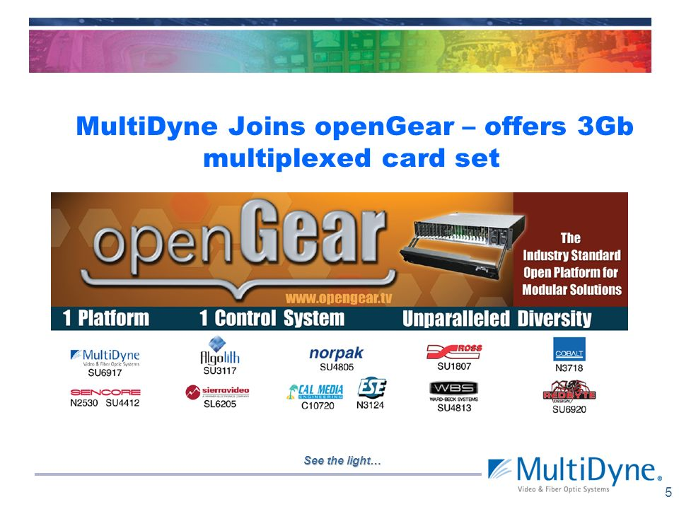 MultiDyne Joins openGear – offers 3Gb multiplexed card set