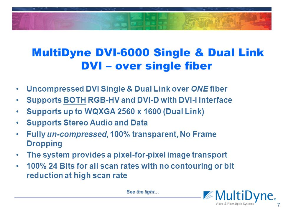 MultiDyne DVI-6000 Single & Dual Link DVI – over single fiber