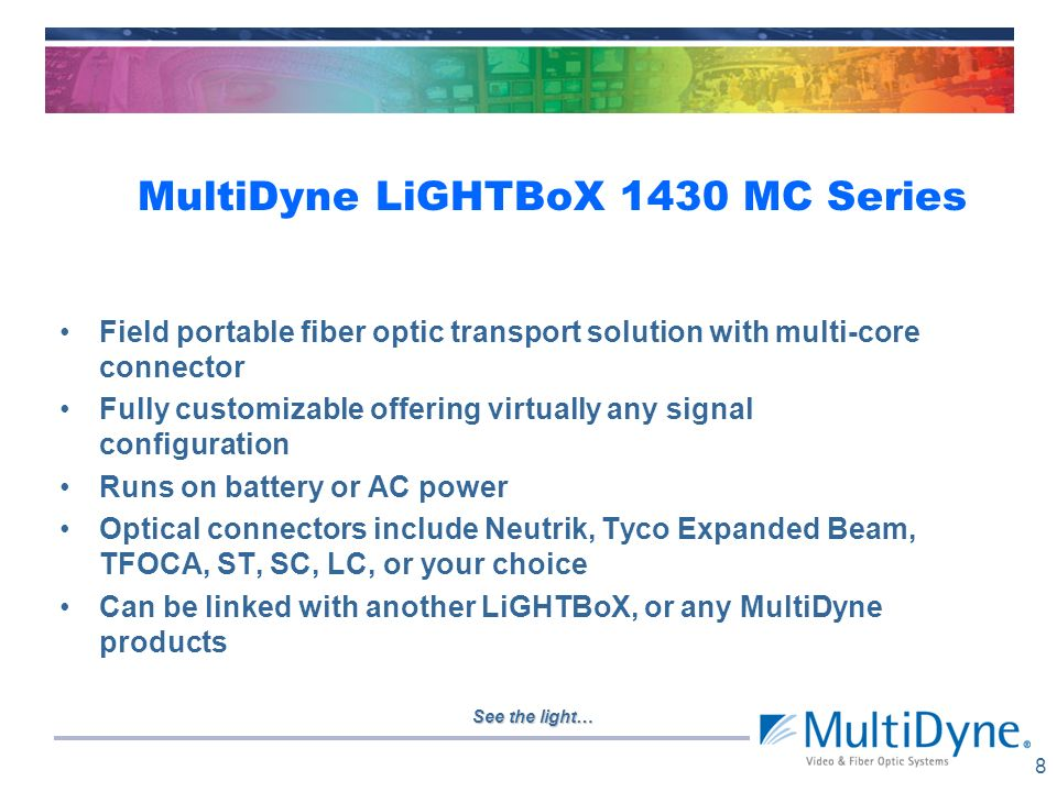 MultiDyne LiGHTBoX 1430 MC Series