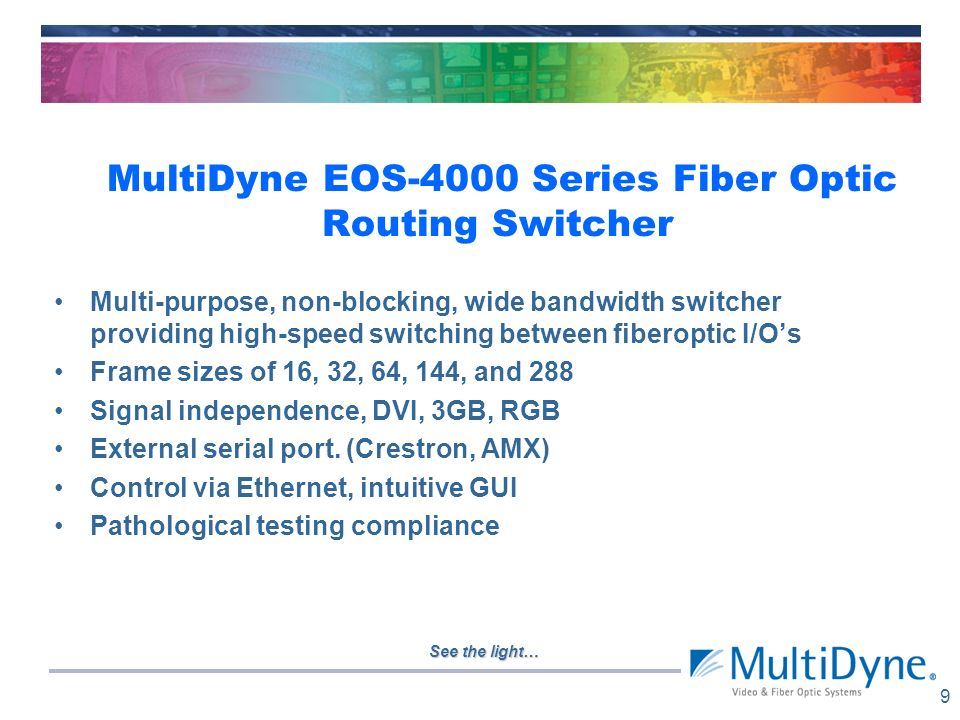 MultiDyne EOS-4000 Series Fiber Optic Routing Switcher