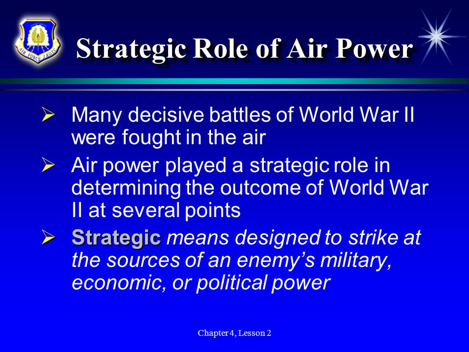 Strategic Role of Air Power