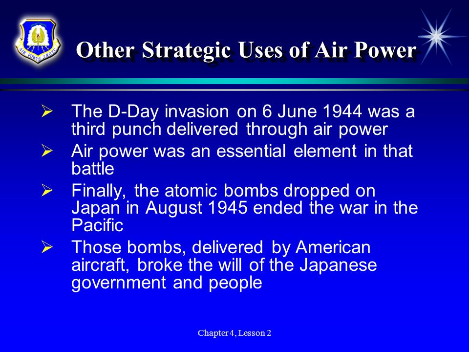 Other Strategic Uses of Air Power