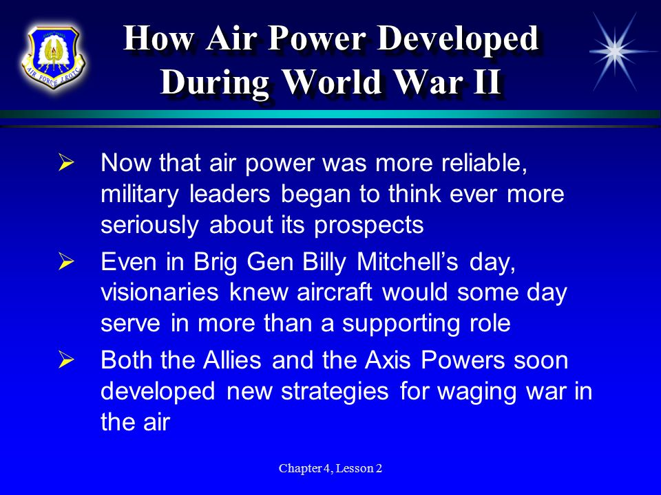 How Air Power Developed During World War II