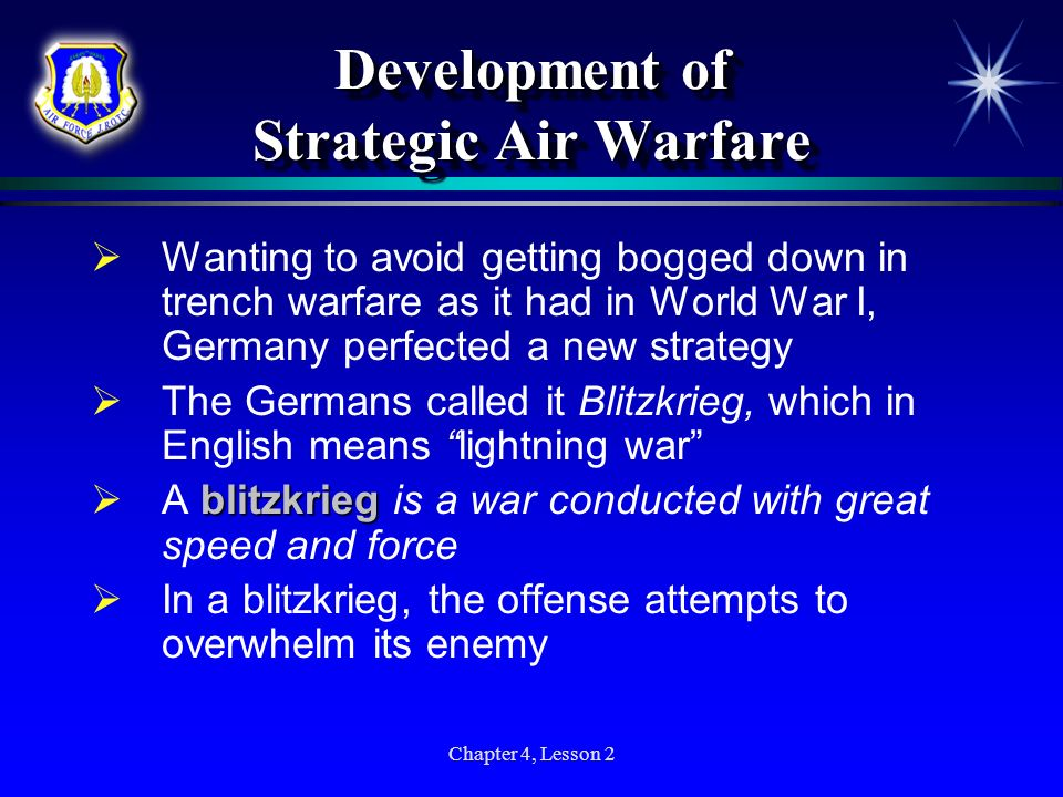 Development of Strategic Air Warfare