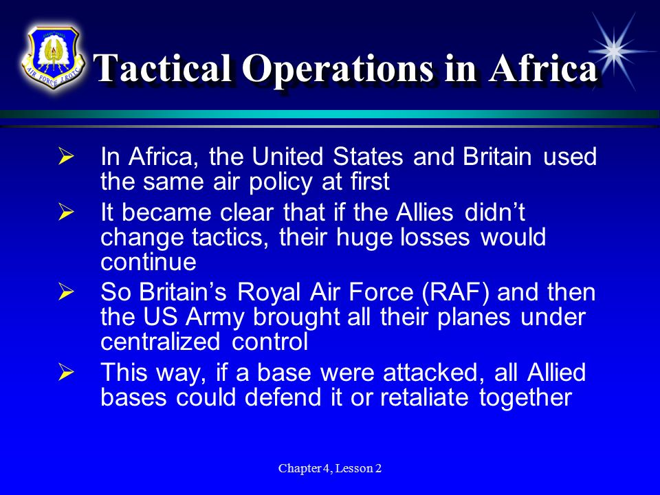Tactical Operations in Africa