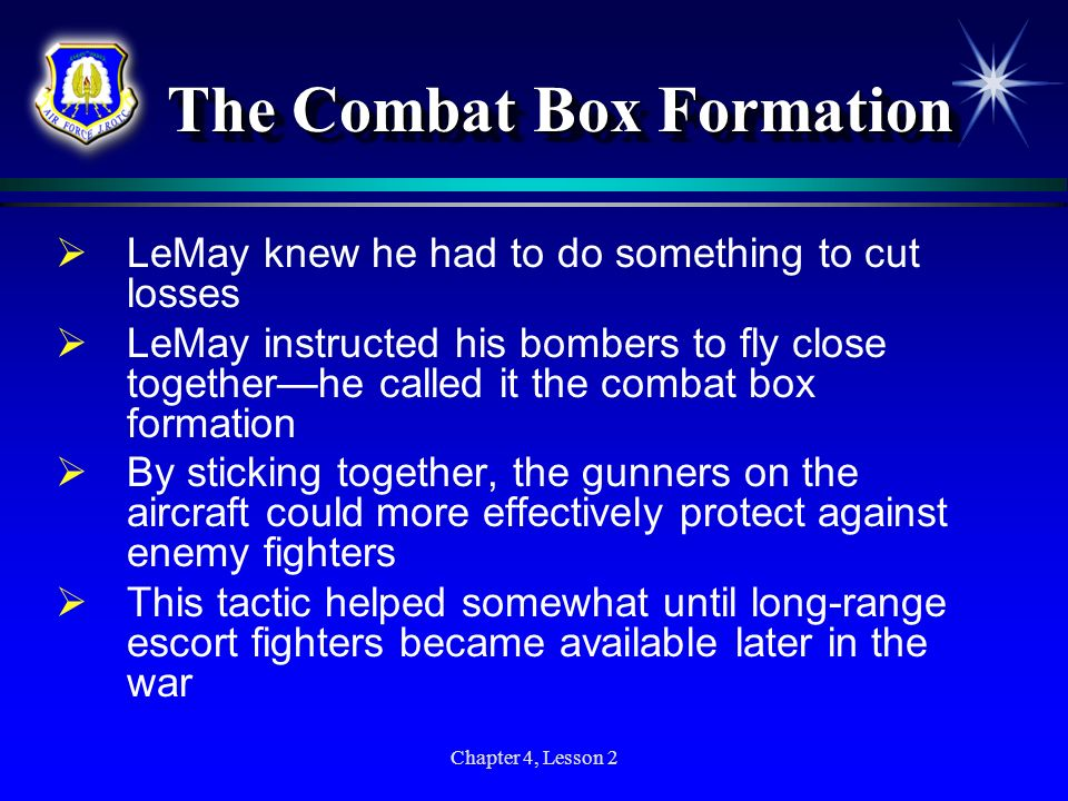 The Combat Box Formation