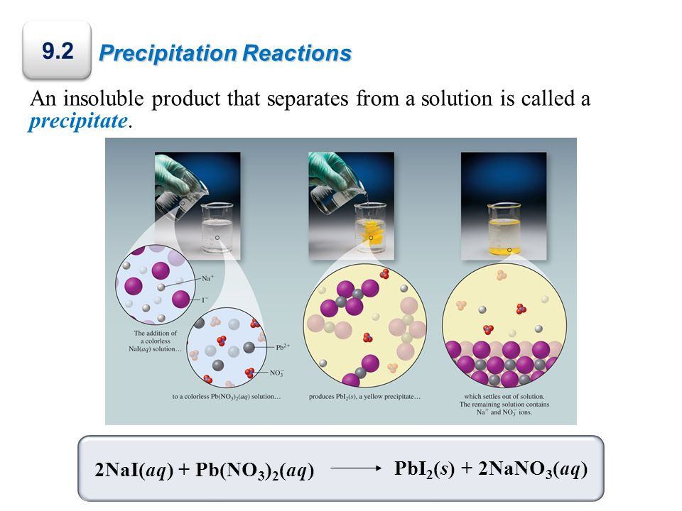 9.2 Precipitation Reactions