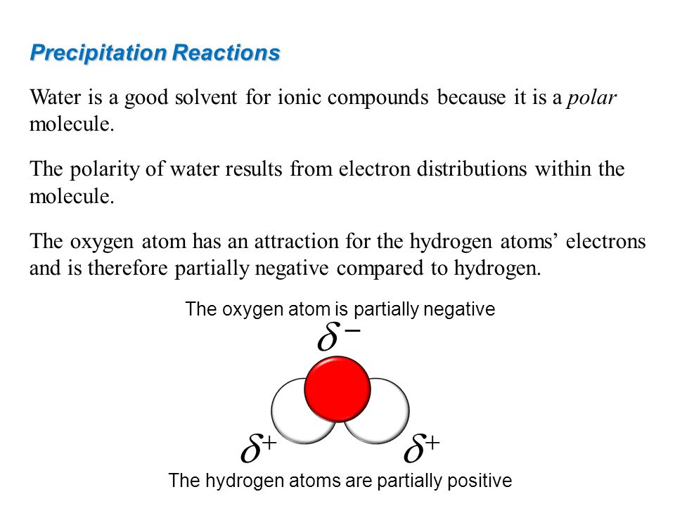–     Precipitation Reactions