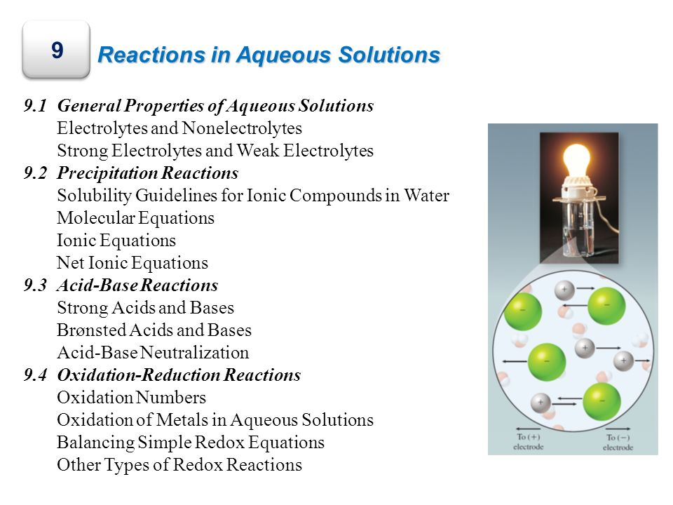 9 Reactions in Aqueous Solutions