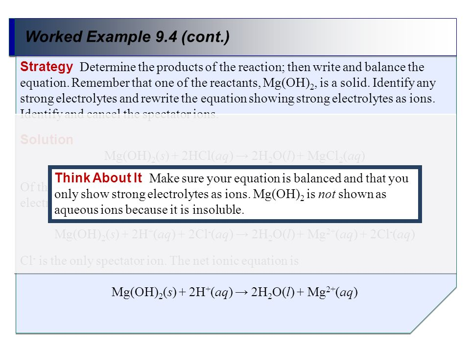 Worked Example 9.4 (cont.)