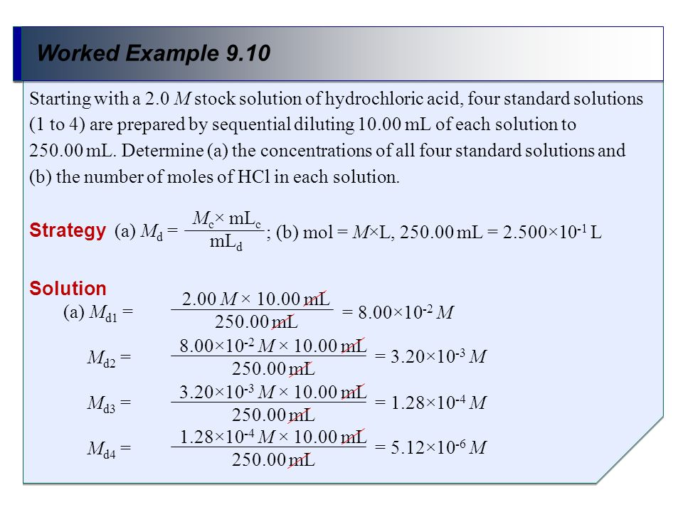 Worked Example 9.10
