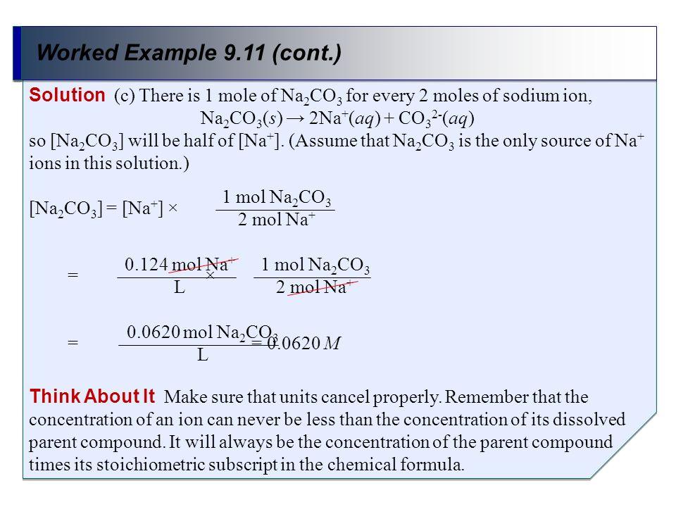 Na2CO3(s) → 2Na+(aq) + CO32-(aq)