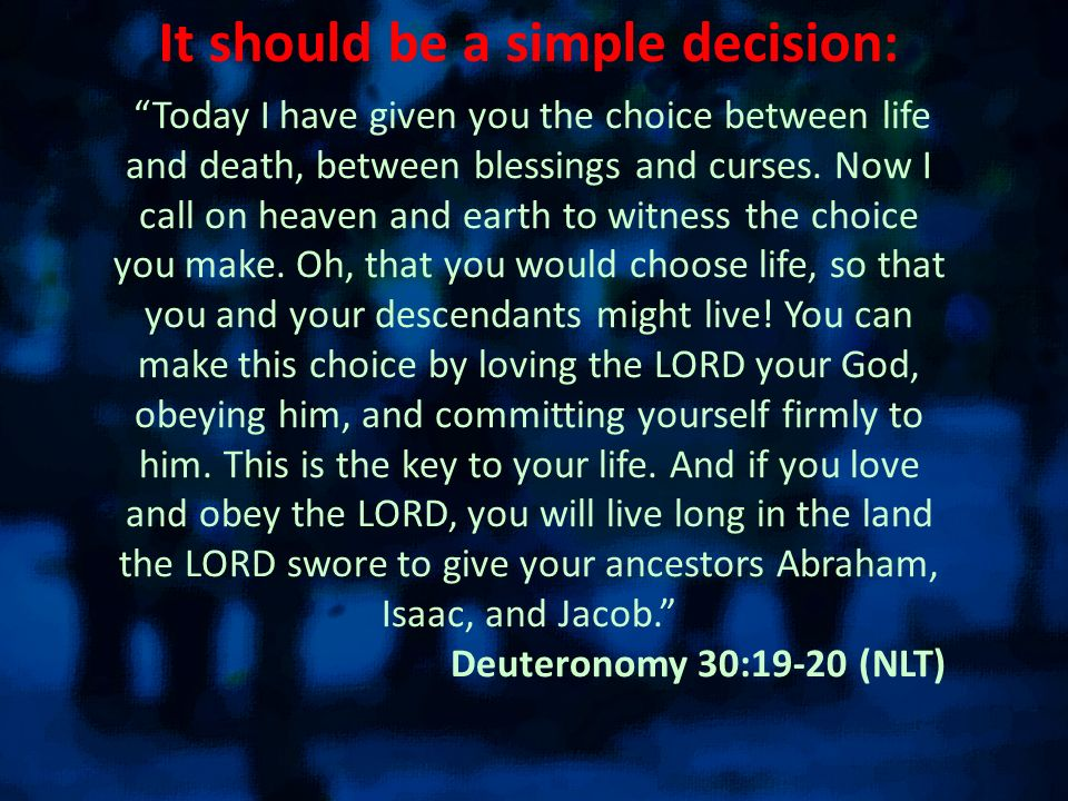It should be a simple decision: