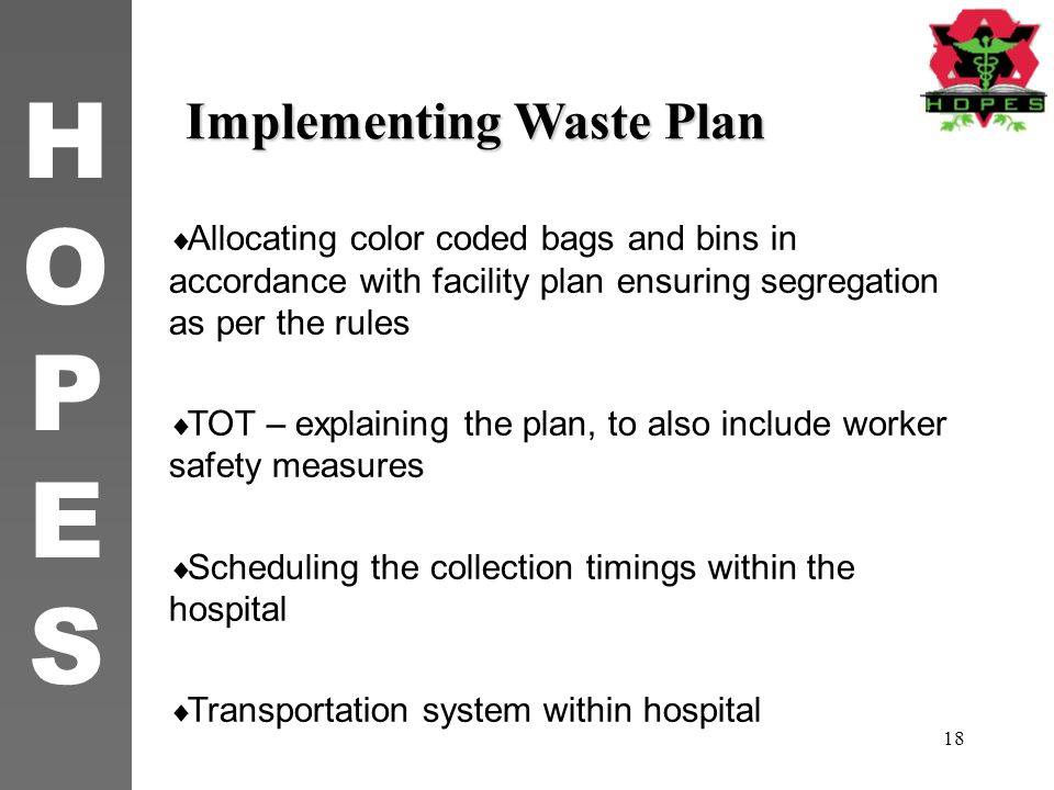 Implementing Waste Plan