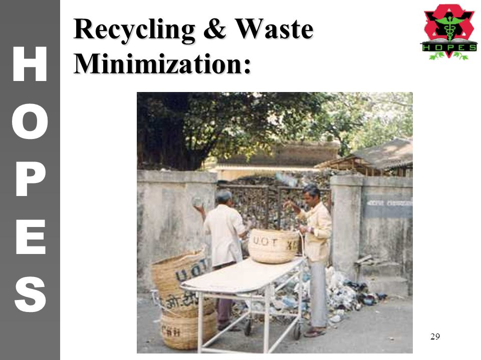 Recycling & Waste Minimization: