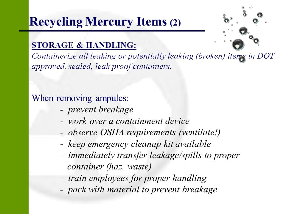 Recycling Mercury Items (2)