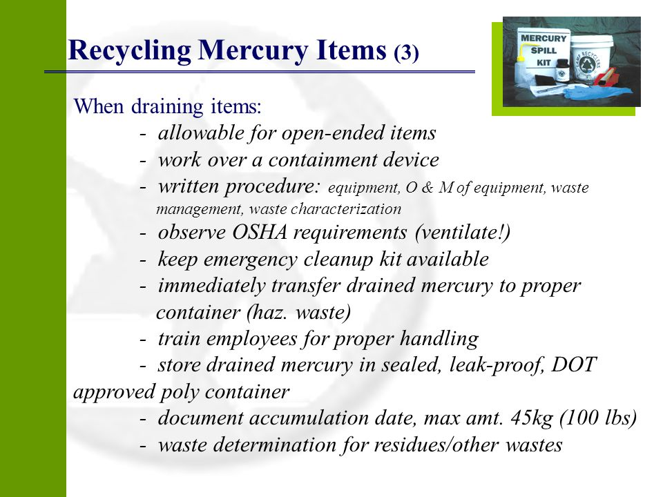 Recycling Mercury Items (3)