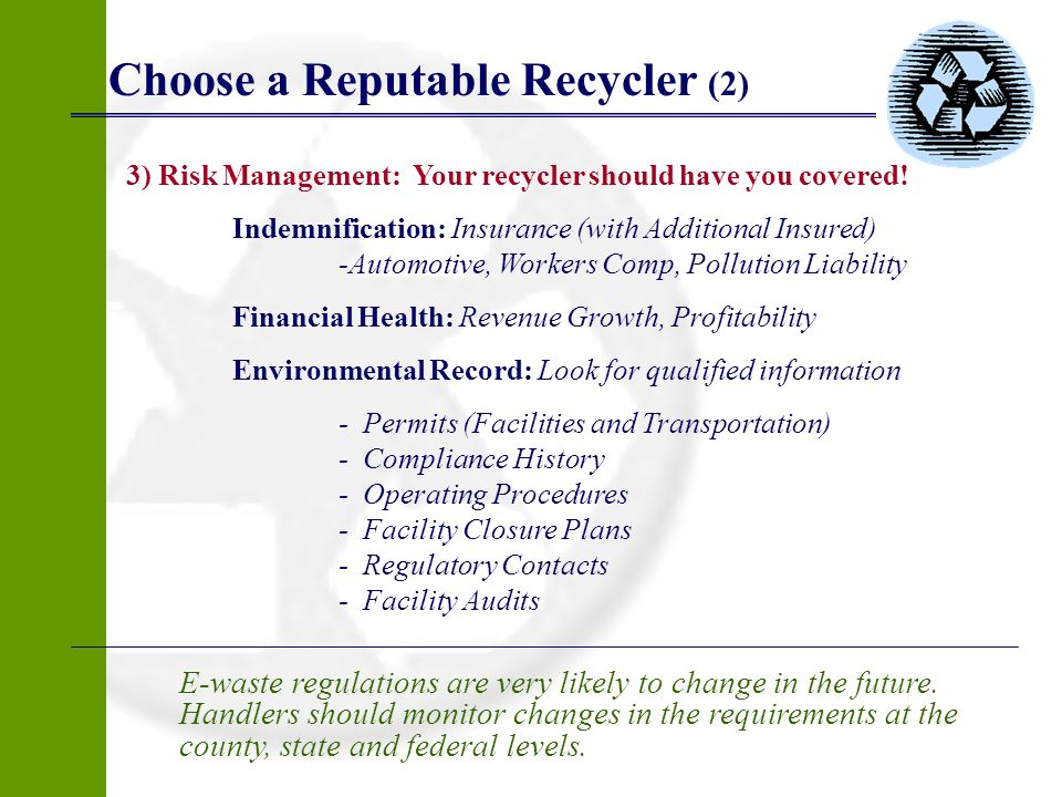 Choose a Reputable Recycler (2)