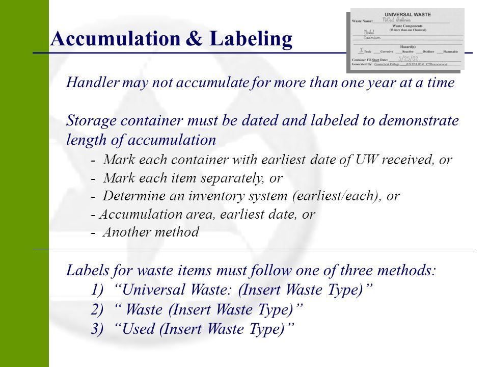 Accumulation & Labeling