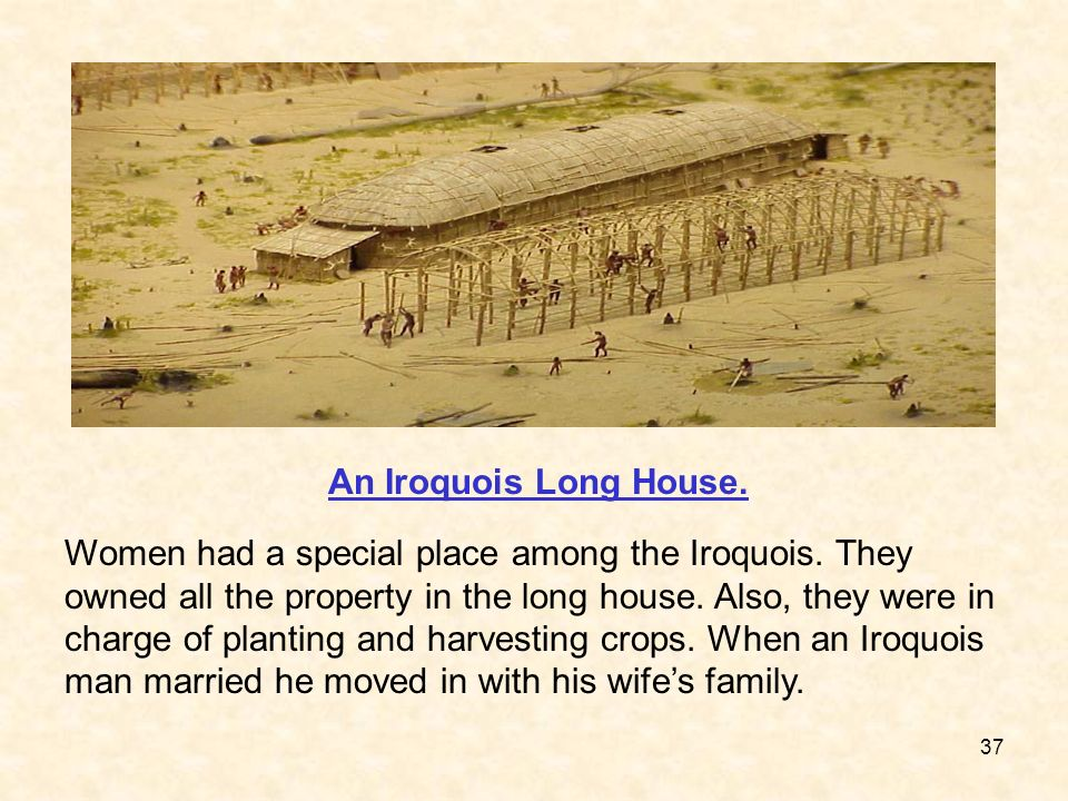 An Iroquois Long House.