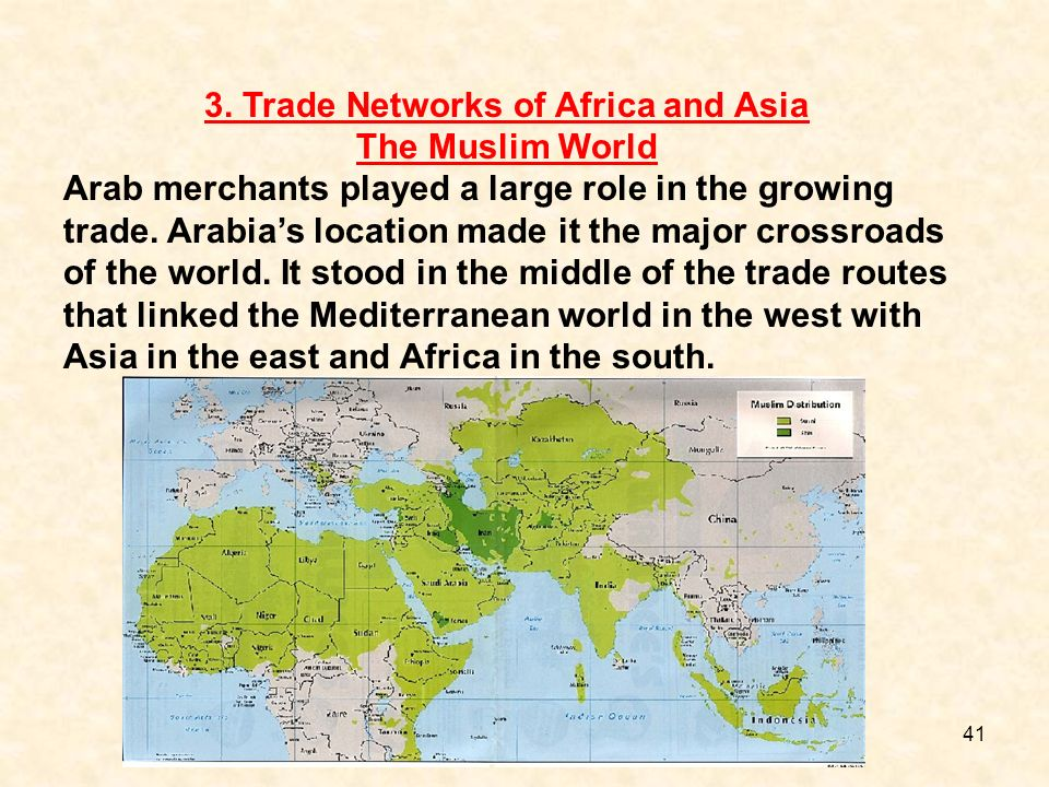 3. Trade Networks of Africa and Asia