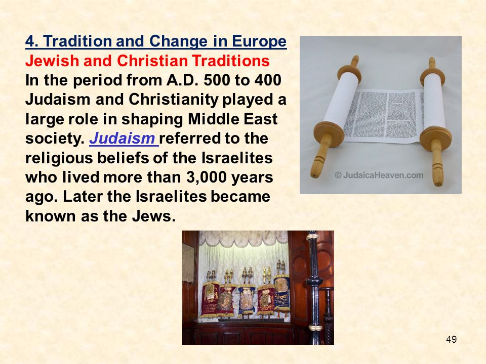 4. Tradition and Change in Europe