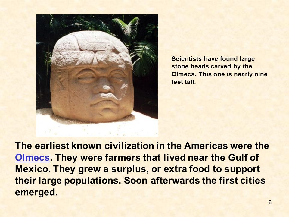 Scientists have found large stone heads carved by the Olmecs