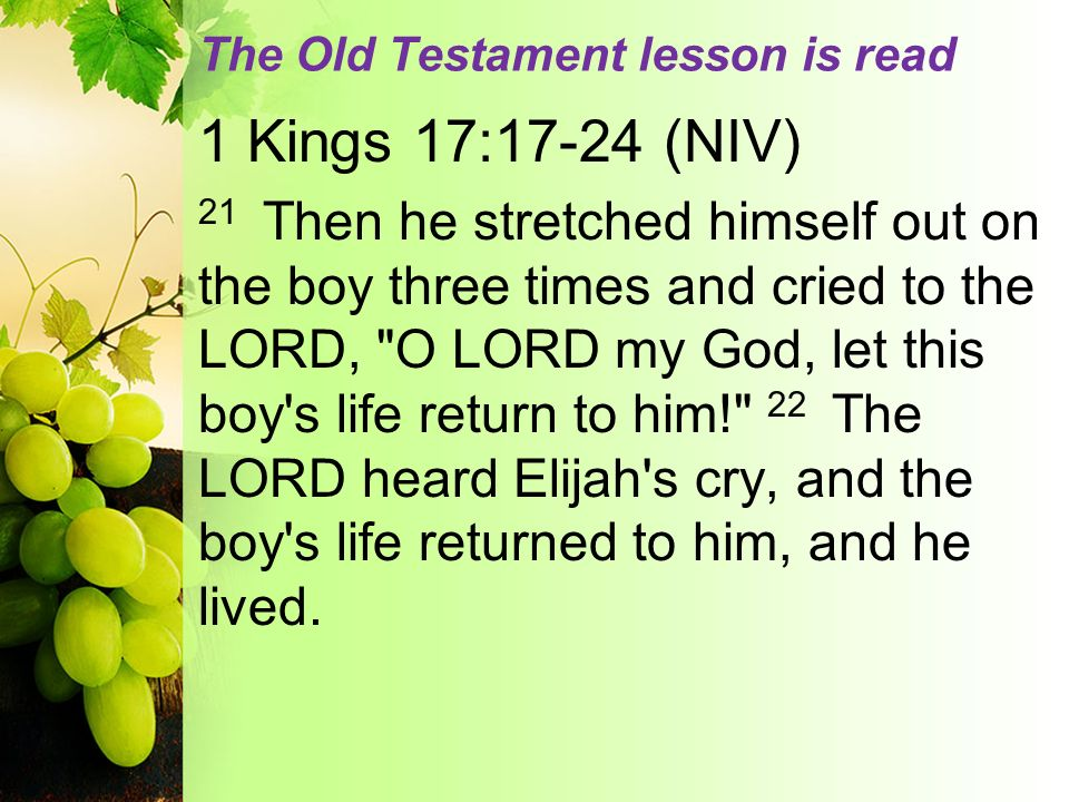 The Old Testament lesson is read