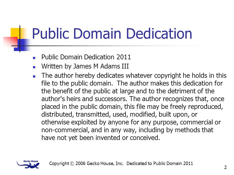 Public Domain Dedication