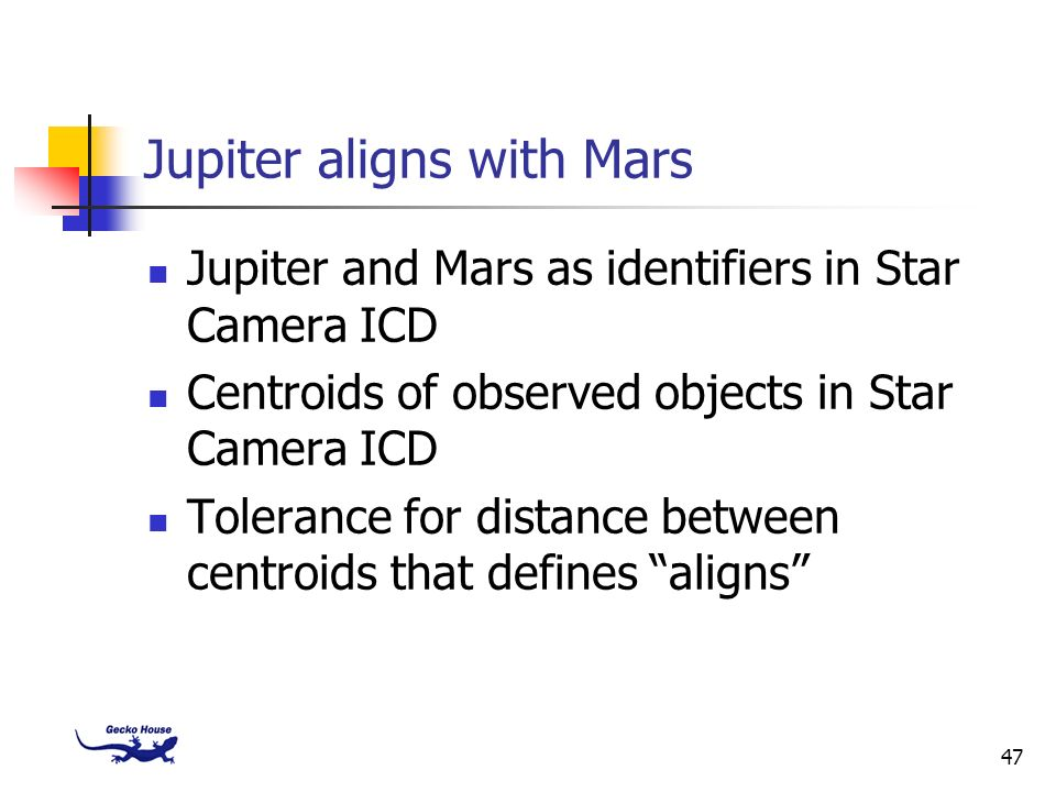 Jupiter aligns with Mars