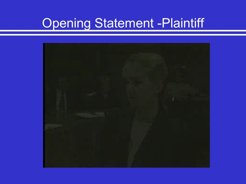 Opening Statement -Plaintiff